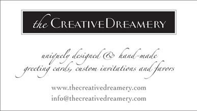 the Creative Dreamery business card